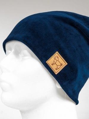"Pugas.lt ""Mėlyno veliūro kepurė su POM POM"""
