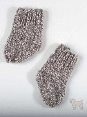 """Pugas.lt """"Pilkos vilnones kūdikio kojinytės"""""""