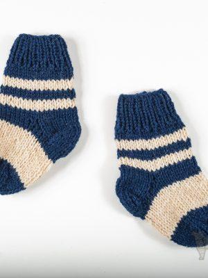 """Pugas.lt """"Mėlynos vilnonės kūdikio kojinytės"""""""