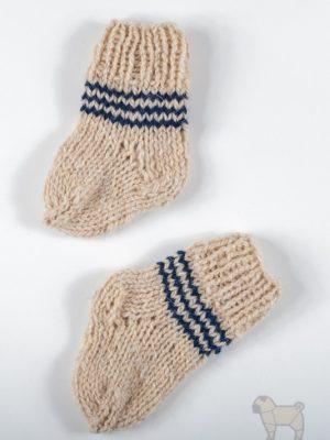 """Pugas.lt """"Baltos vilnonės kūdikio kojinytės"""""""
