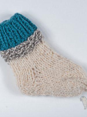 """Pugas.lt """"Vilnonės margos kūdikio kojinės"""""""