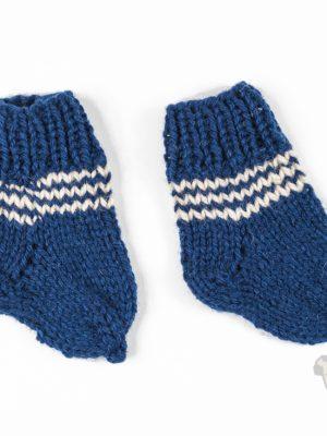 """Pugas.lt """"Mėlynos vilnoninės kūdikio kojinės"""""""